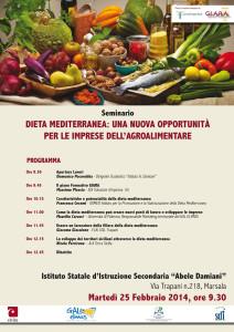 locandina-25 febbraio 2014 marsala dieta mediterranea